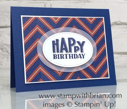 You Are Amazing, Well Suited Designer Series Paper, Stampin Up!, Brian King, guy birthday card