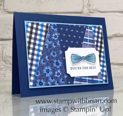 Handsomely Suited, Well Suited, Stampin Up!, Brian King, masculine card