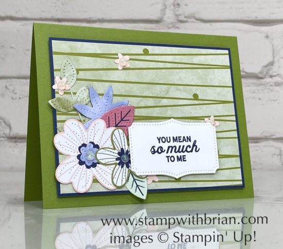In Bloom Bundle, Pierced Bloom Dies, Paper Blooms Designer Series Paper, Stampin Up!, Brian King