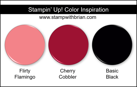Stampin Up! Color Inspiration - Flirty Flamingo, Cherry Cobbler, Basic Black