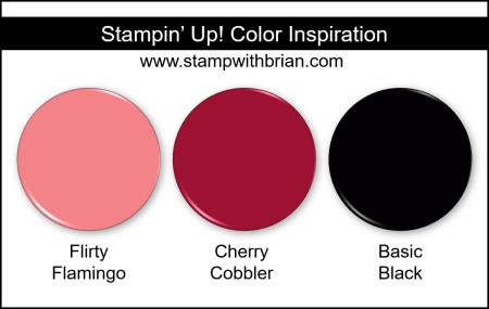 Stampin Up! Color Inspiration - Flirty Flamingo, Cherry Cobbler, Basic Black