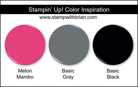 Stampin Up! Color Inspiration - Melon Mambo, Basic Gray, Basic Black