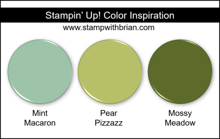 Stampin Up! Color Inspiration - Mint Macaron, Pear Pizzazz, Mossy Meadow