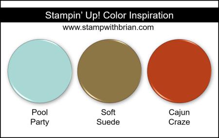 Stampin Up! Color Inspiration - Pool Party, Soft Suede, Cajun Craze