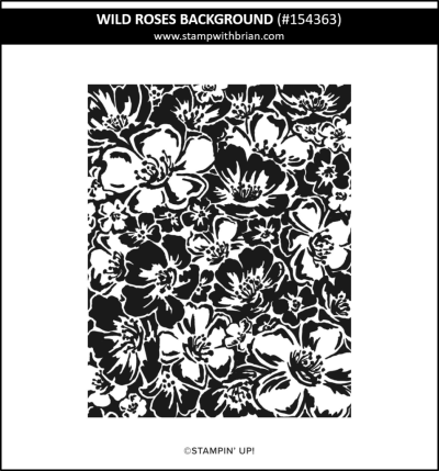 Wild Roses Background, Stampin Up!, 154363