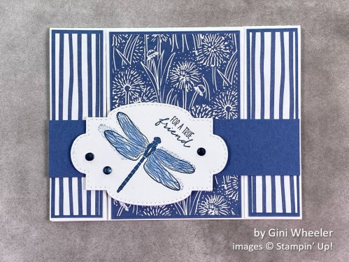 by Gini Wheeler, Stampin Up!, swap card 1