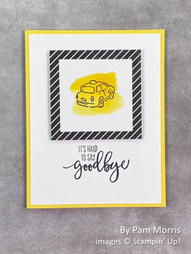 by Pam Morris, Stampin Up!, swap card