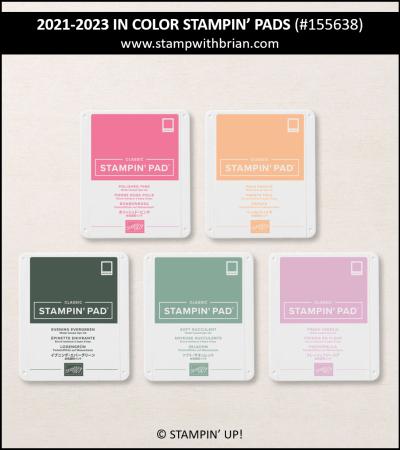 2021-2023 In Color Stampin Pads Bundle, Stampin Up! 155638