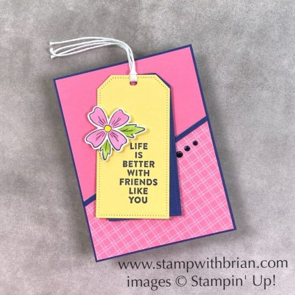 Flowers of Friendship Bookmark, Stampin Up!, Brian King