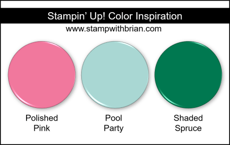 Stampin Up! Color Inspiration - Polished Pink, Pool Party, Shaded Spruce