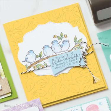 Stitched Greenery Die catalog sample, Stampin Up!