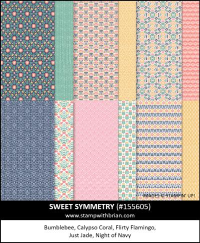 Sweet Symmetry Designer Series Paper, Stampin Up!, 155605
