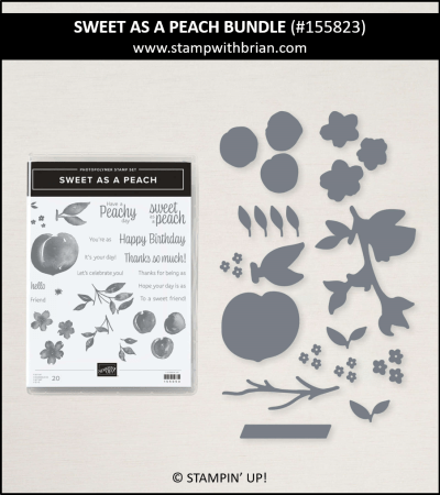 Sweet as a Peach Bundle, Stampin Up! 155823