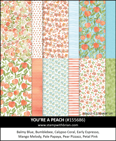 You're a Peach Designer Series Paper, Stampin Up!, 155686