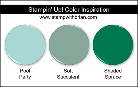 Stampin Up! Color Inspiration - Pool Party, Soft Succulent, Shaded Spruce