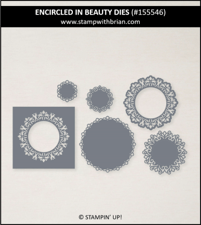 Encircled in Beauty Dies, Stampin Up! 155546