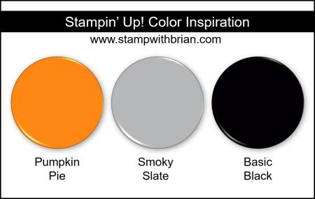 Stampin Up! Color Inspiration - Pumpkin Pie, Smoky Slate, Basic Black