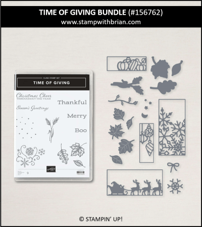 Time of Giving Bundle, Stampin Up! 156762