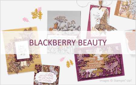Blackberry Beauty Product Suite, Stampin Up!, July-December 2021 Mini Catalog
