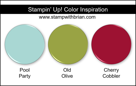 Stampin Up! Color Inspiration - Pool Party, Old Olive, Cherry Cobbler