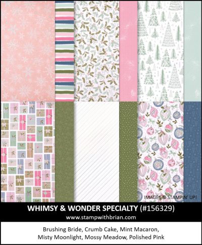 Whimsy & Wonder Specialty Designer Series Paper, Stampin Up! 156329