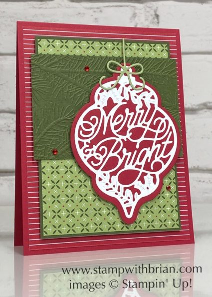 Bright Baubles Bundle, Stampin Up!, Brian King, Christmas card
