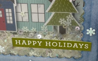 Happy New Year and a fun Holiday Shaker Ornament