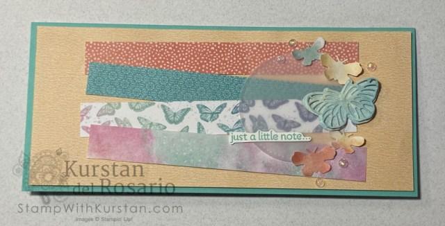 Butterfly Brilliance Slimeline Card