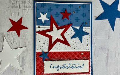 Luv 2 Stamp Group June Blog Hop – Red, White & Blue