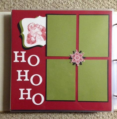 Santa Scrapbook Page