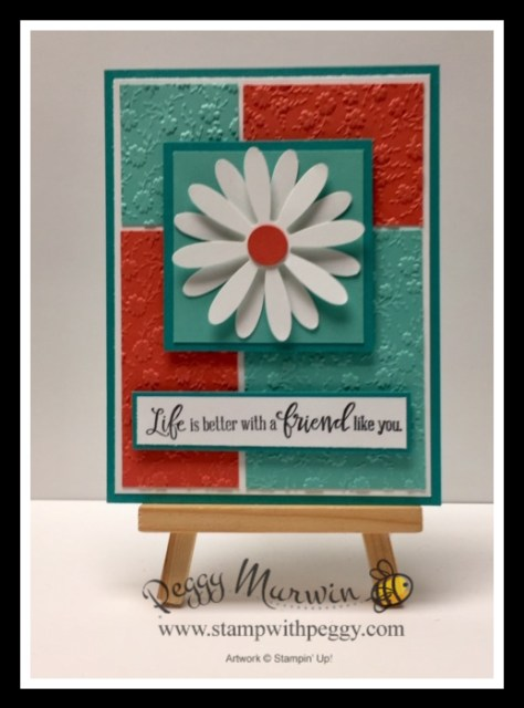 Peaceful Moments Stamp Set, Ornate Floral 3D Embossing Folder, Daisy Punch, Stamp with Peggy