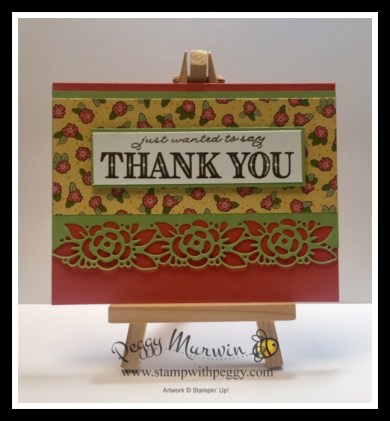 Ornate Garden One Sheet Wonder, Ornate Garden Suite, Ornate Thanks Stamp Set, Ornate Borders Dies, Ornate Layers Dies, Ornate Garden Designer Paper, Thank You, Stamp with Peggy