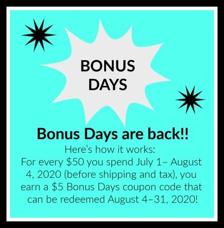 Bonus Days, Stamp with Peggy