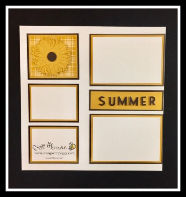 Sunflower Dies, Playful Alphabet Dies, Scrapbook, August, Sunflowers, Stamp with Peggy