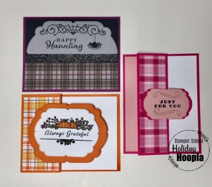 Plaid Tidings Suite, Celebration Tidings Bundle, Stamp-a-Stack, Halloween, Thanksgiving, Christmas, Stamp with Peggy