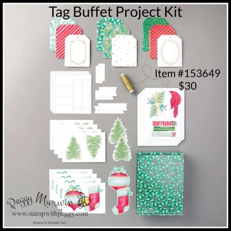 Tag Buffet Project Kit, Christmas, Stamp with Peggy