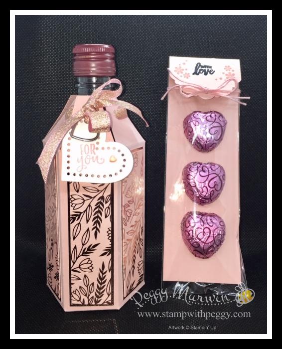 Mini Wine Bottle Gift Box & Chocolates