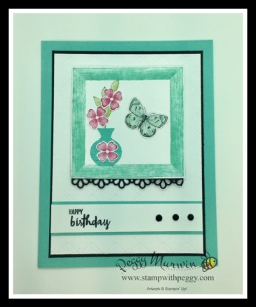 Framed for You Stamp Set, Butterfly Bijou Designer Paper, Brilliant Wings Dies, Cabin Fever Stamp Camp, Stamp with Peggy