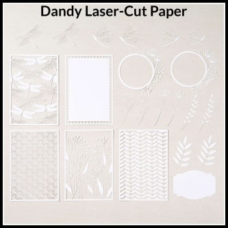 Dandy Laser-Cut Paper, Cabin Fever Stamp Camp in a Box, Stamp with Peggy