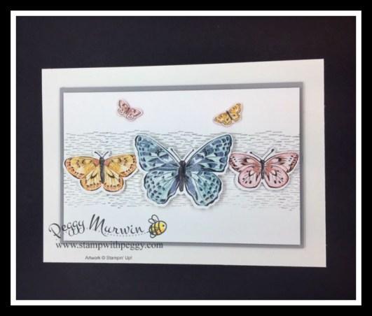 Framed for You Stamp Set, Brilliant Wings Dies, Butterfly Bijou Designer Paper, Framed Art, Cabin Fever Stamp Camp, Stamp with Peggy