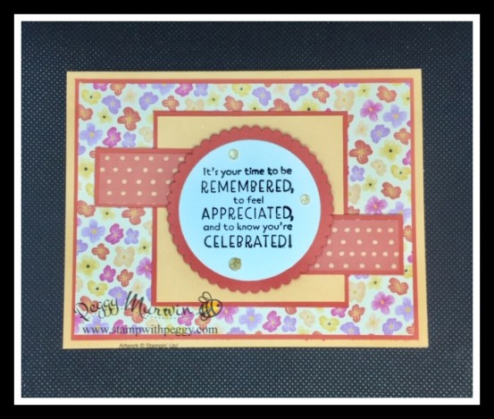 Inspired Thoughts Stamp Set, Pansy Petal Designer Paper, Birthday, Stamp with Peggy