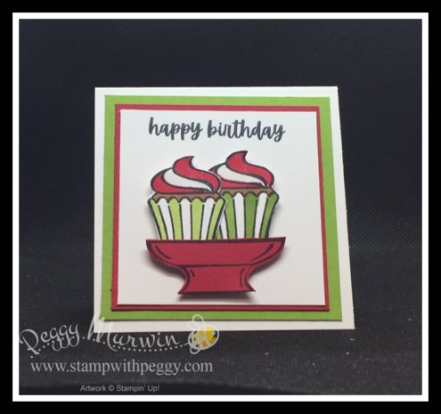 Sweets & Treats Stamp Set, Sucker Holder, 3 x 3 Birthday Card, Stamp with Peggy