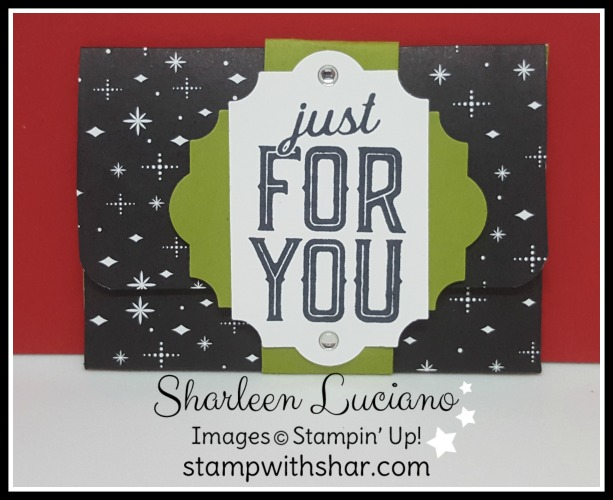 Gift Card Holder Stampin' Up