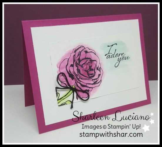 Watercoloring Rose Stampin' Up