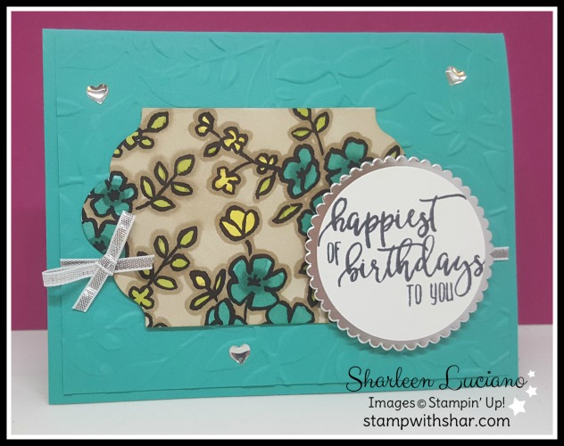 Picture Perfect Birthday Card Stamp With Shar
