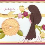 Birds with Leaves and Flower card – wow
