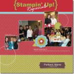 Digital Scrapbook Page – Stampin Up Regional