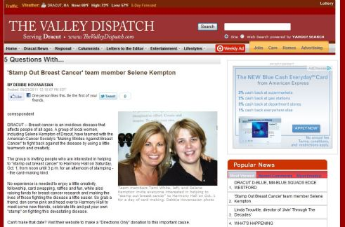 stamp-out-breast-cancer-paper-article