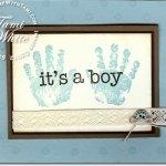 Baby Prints 'It's a Boy' Card