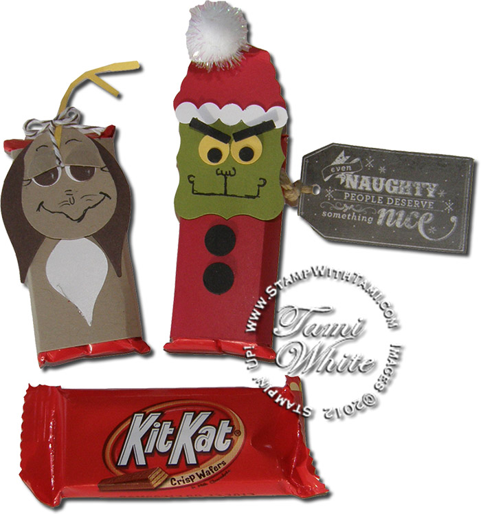 VIDEO TUTORIAL: The Grinch Who Stole Xmas in a Kit Kat   Stampin Up ...